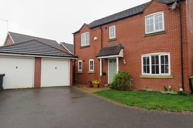 Thumbnail Detached house for sale in Wake Way, Grange Park, Northampton