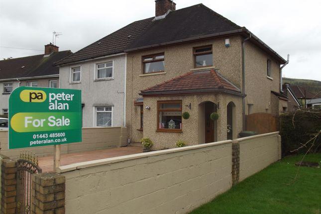 Thumbnail Semi-detached house for sale in Laurel Avenue, Hawthorn, Pontypridd