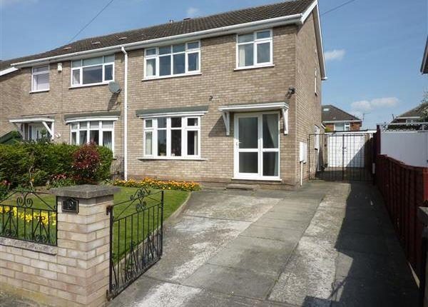 Thumbnail Semi-detached house for sale in Gedney Close, Wybers Wood, Grimsby