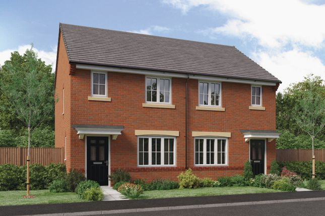 "Thumbnail Semi-detached house for sale in ""The Yare"" At Ladyburn Way, Hadston, Morpeth"