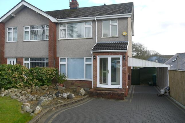 Thumbnail Semi-detached house to rent in The Dell, Killay, Swansea