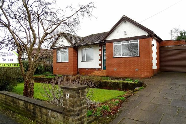 Thumbnail Bungalow to rent in Delamere Avenue, Whitefield, Whitefield Manchester