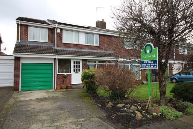 Thumbnail Semi-detached house for sale in Alnmouth Drive, Gosforth, Newcastle Upon Tyne