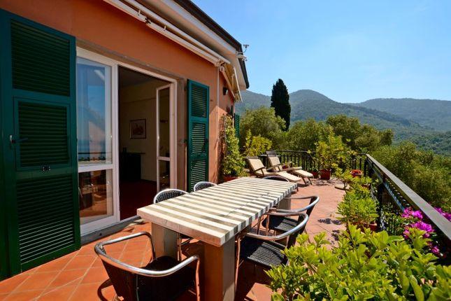 Sunny Terrace of Lerici, La Spezia, Liguria, Italy
