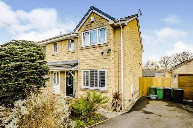 Thumbnail Semi-detached house for sale in Kilburn Close, Almondbury, Huddersfield, West Yorkshire