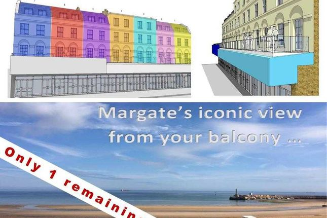 Thumbnail Flat for sale in Marine Terrace, Margate