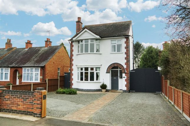 Thumbnail Detached house for sale in Grove Road, Blaby, Leicester