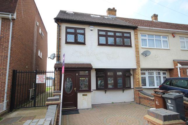 Thumbnail End terrace house to rent in Norton Road, Dagenham