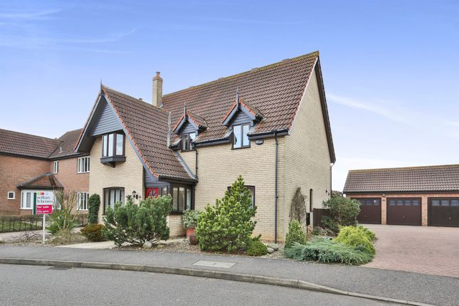 Thumbnail Detached house for sale in Wheatcroft Way, Dereham