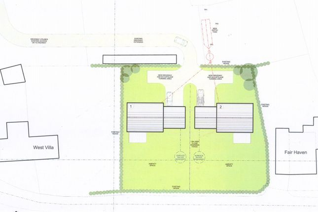 Plots Site Plan of Chilsworthy, Holsworthy EX22