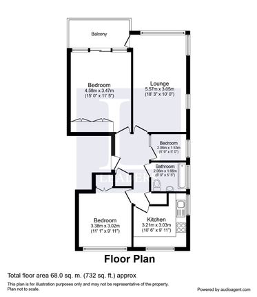 Floor Plan of Dolphin Way, Rustington, Littlehampton BN16