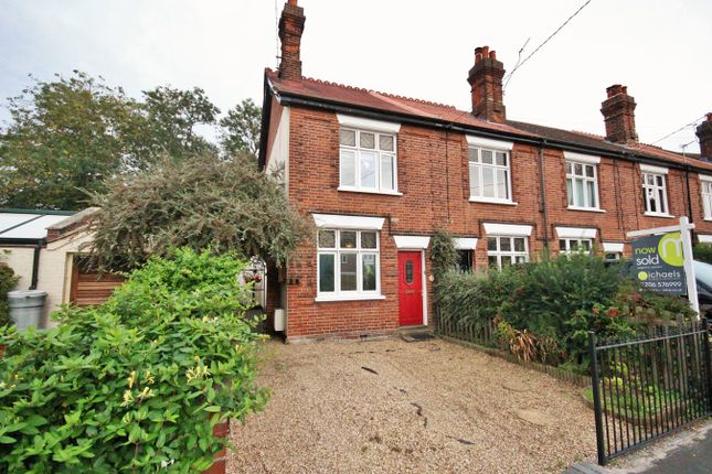 Thumbnail End terrace house for sale in Khartoum Villas, The Street, Ardleigh, Colchester