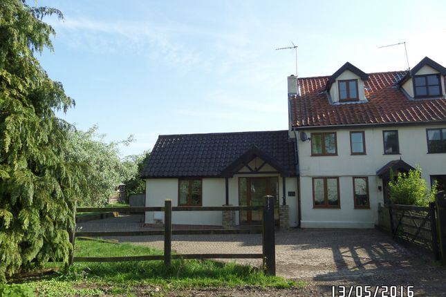 Thumbnail End terrace house to rent in Chediston, Halesworth