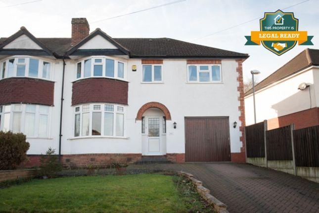 Thumbnail Semi-detached house for sale in Harcourt Drive, Four Oaks, Sutton Coldfield