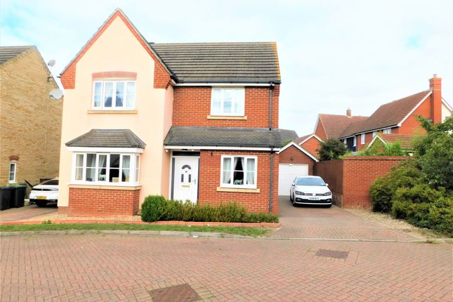 Thumbnail Detached house for sale in Woodpecker Close, Stowmarket
