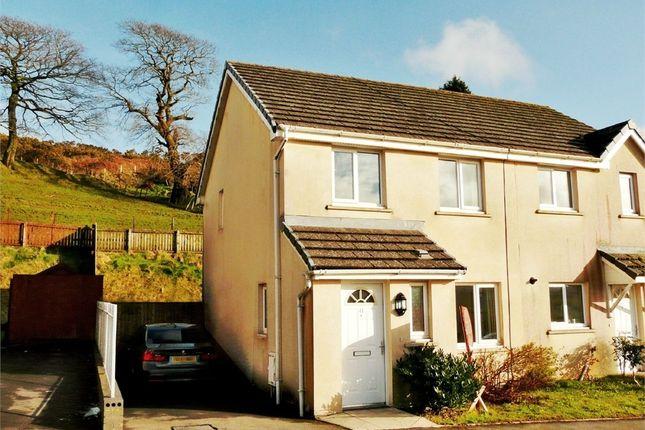 Thumbnail Semi-detached house for sale in Heol Llwynffynon, Llangeinor, Bridgend, Mid Glamorgan