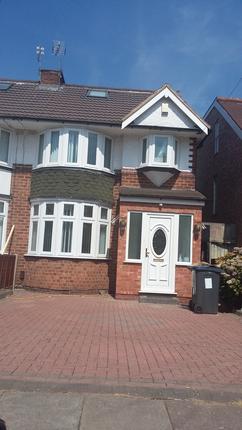 Thumbnail Semi-detached house to rent in Glendower Road, Birmingham