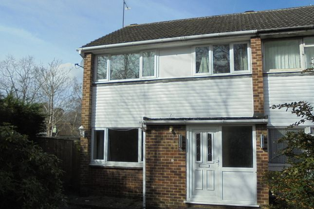 Thumbnail End terrace house to rent in Fairwater Drive, Woodley, Reading