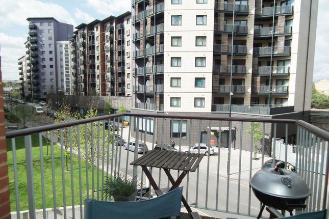 Balcony of Garand Court, Eden Grove, Holloway, London N7