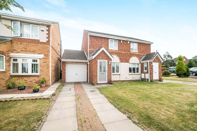 Thumbnail Semi-detached house for sale in The Meadows, Burnopfield, Newcastle Upon Tyne
