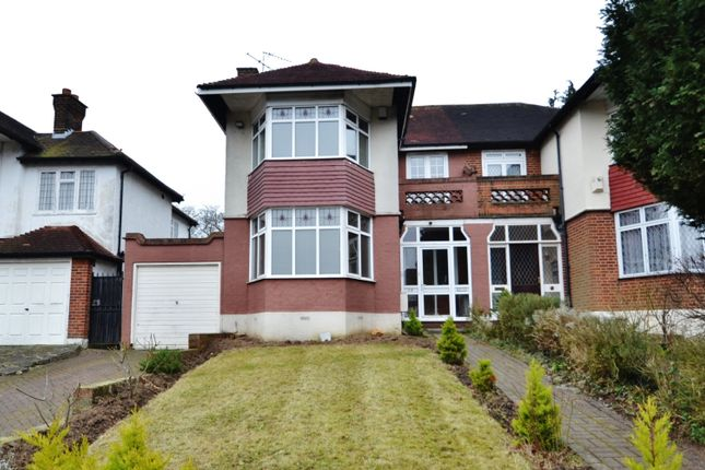Thumbnail Semi-detached house to rent in Heddon Court Avenue, Cockfosters