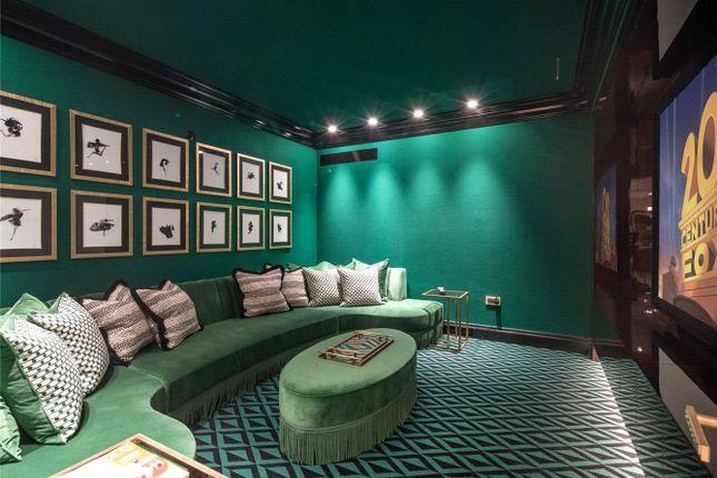Cinema Room of Elsworthy Road, Primrose Hill, London NW3