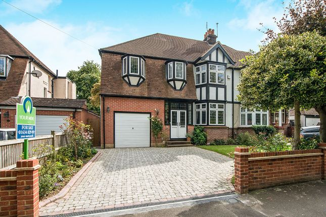 Thumbnail Semi-detached house for sale in Park Crescent, Chatham