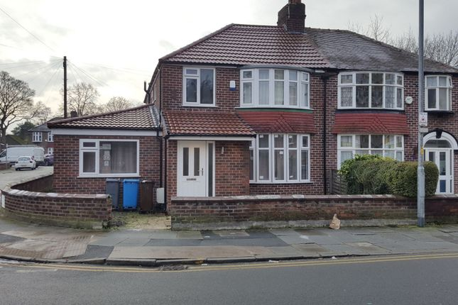 Thumbnail Semi-detached house to rent in Arnfield Street, Withington