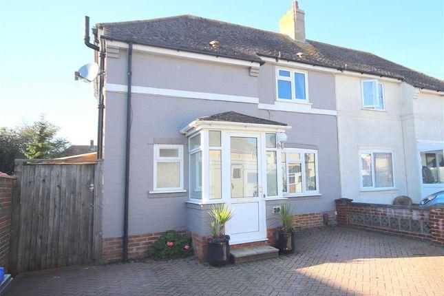 Thumbnail Semi-detached house for sale in Buci Crescent, Shoreham-By-Sea