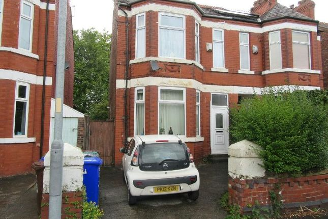 Thumbnail Semi-detached house for sale in Clarendon Road West, Chorlton Cum Hardy, Manchester