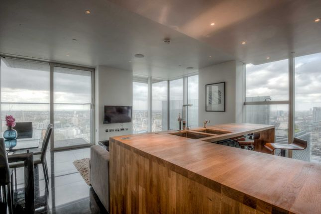 Thumbnail Flat to rent in The Heron, Silk Street, City Of London, London
