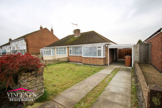 Thumbnail Semi-detached bungalow for sale in Lawnwood Road, Groby, Leicester