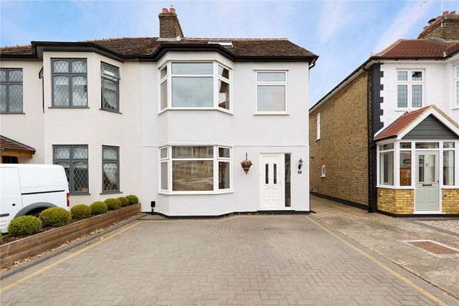 Thumbnail Semi-detached house for sale in Melstock Avenue, Upminster
