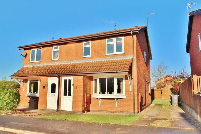 Thumbnail Semi-detached house for sale in Caernarvon Close, Mountsorrel, Leicestershire