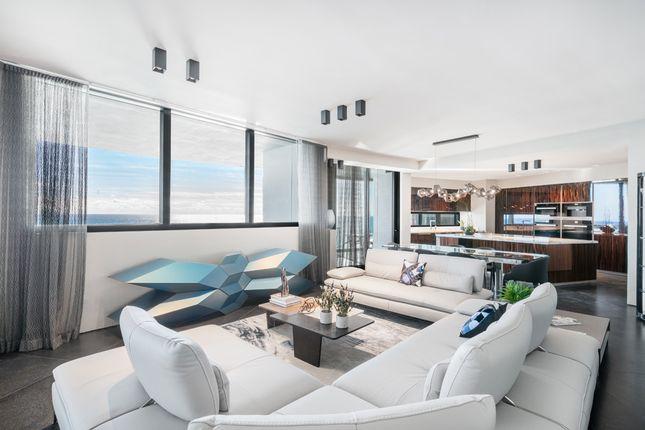 Open Plan Living Room & Kitchen - Apt 1601 - Porsche Design Tower Miami