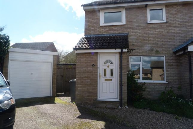 Thumbnail Semi-detached house to rent in Greenacre Close, Brundall, Norwich