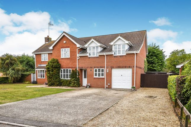 Thumbnail Detached house for sale in Hugh Close, North Wootton, King's Lynn