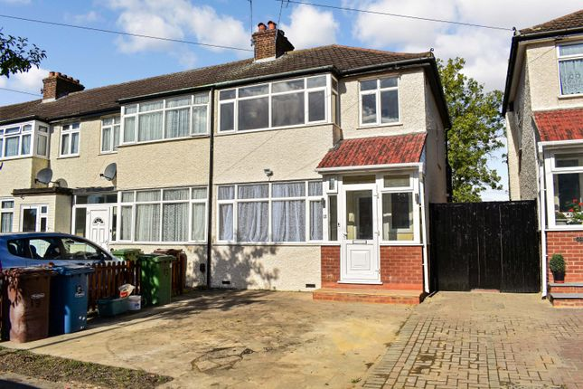 Thumbnail End terrace house to rent in Landseer Close, Edgware