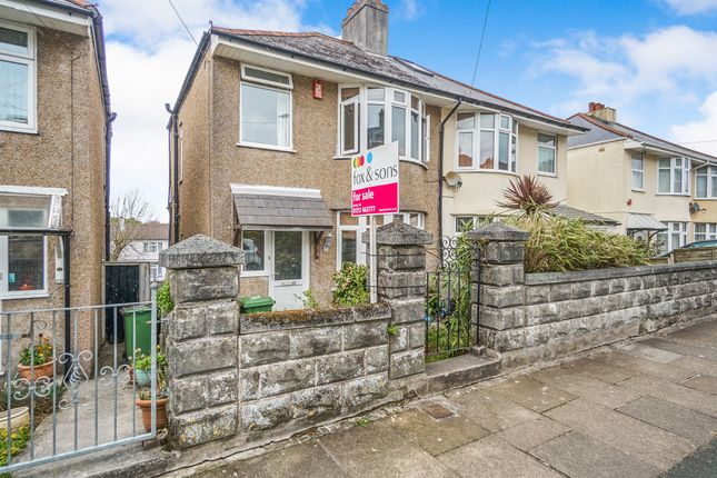 Thumbnail Semi-detached house for sale in Dovedale Road, Plymouth
