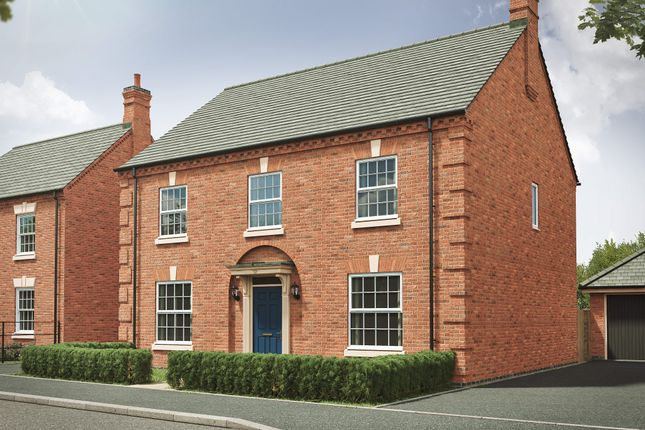 "Thumbnail Detached house for sale in ""The Castleton Georgian"" at Davidsons At Wellington Place, Leicester Road, Market Harborough"