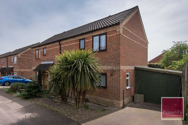 Thumbnail Semi-detached house for sale in Beechcroft, New Costessey, Norwich
