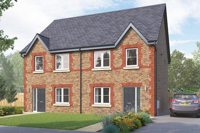 "Thumbnail Semi-detached house for sale in ""The Kilmington"" at Boroughbridge Road, Knaresborough"
