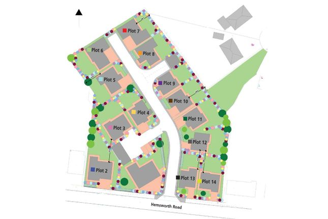 Site Plan of Hemsworth Road, Sheffield S8