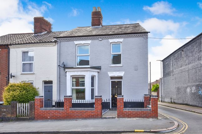 Thumbnail End terrace house for sale in Spencer Street, Norwich