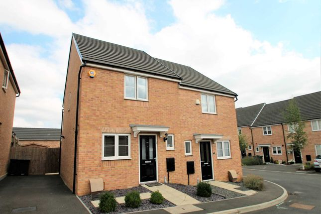 Thumbnail Semi-detached house for sale in Alnwick Close, Rushden