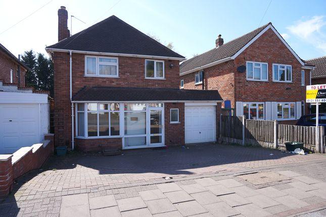 Thumbnail Detached house to rent in Craythorne Avenue, Handsworth, Birmingham