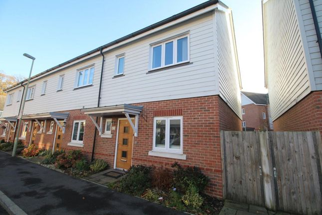 Thumbnail End terrace house to rent in Willowbourne, Fleet