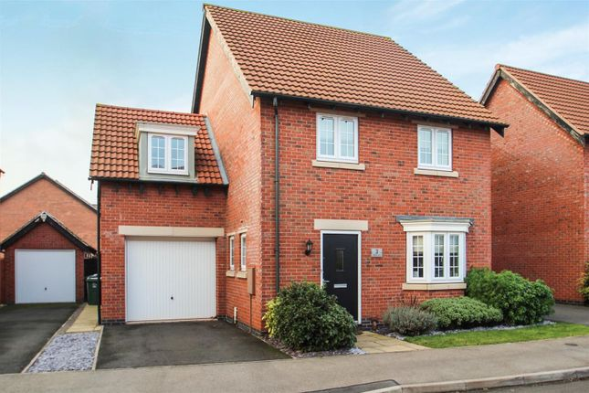 Thumbnail Detached house for sale in Hallaton Drive, Syston, Leicester