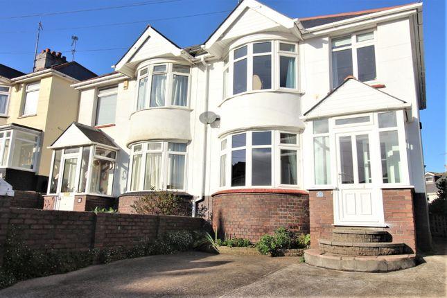 Thumbnail Semi-detached house for sale in Titchfield Gardens, Paignton