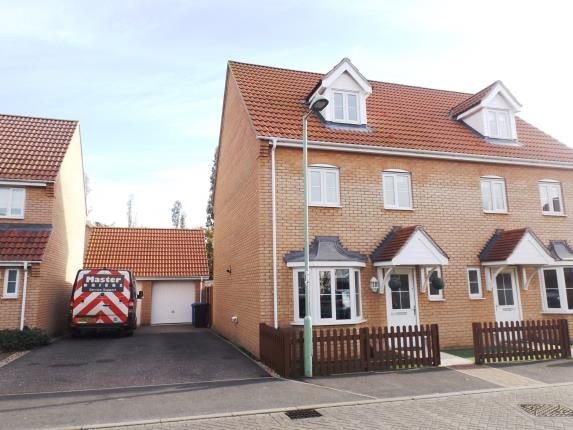 Thumbnail Semi-detached house for sale in Great Cornard, Sudbury, Suffolk